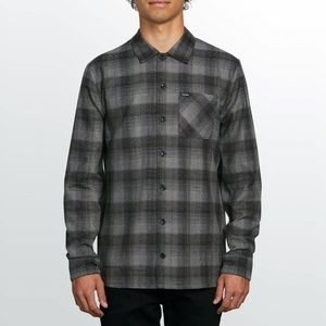 Volcom Flanders Long Sleeve Flannel Black Size Xla